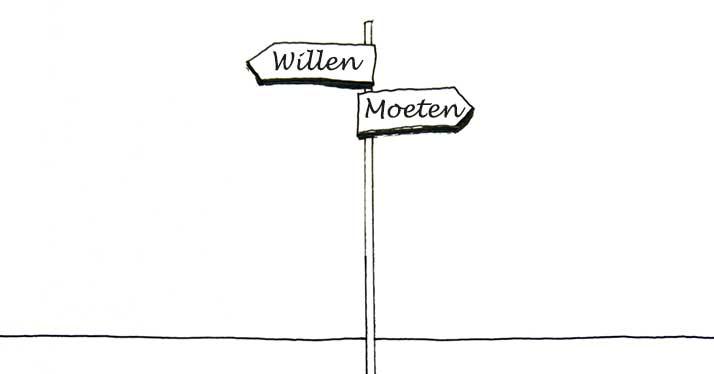 Moeten vs. Willen